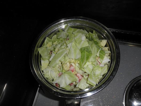 豚バラとキャベツの梅煮02