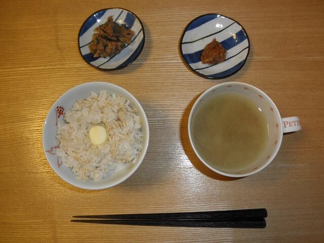 豚味噌と茶節の昼食
