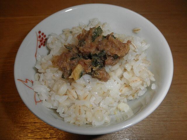 ご飯に豚味噌